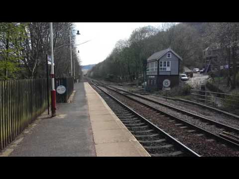 WCR diesel-electric loco 47 832 at Hebden Bridge.