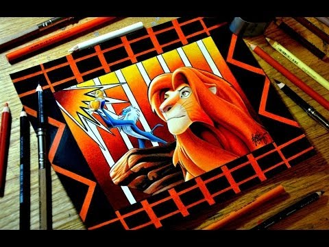 The Lion King Colored Pencil Drawing