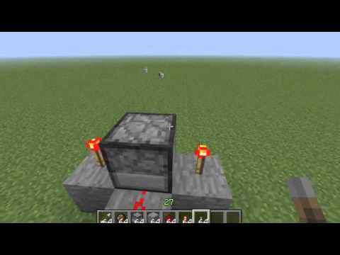 Fire Charge and Arrow Gun Tutorial Minecraft