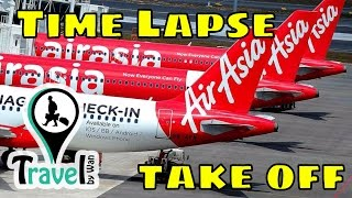 Air Asia Flight, Prepare for take off [ Time Lapse ]