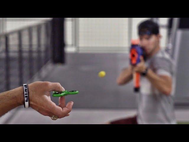 Fidget Spinner Trick Shots | Dude Perfect