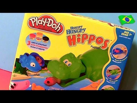 Play-Doh Hippos Faminto Hipopótamo Come Carrinhos - Hungry Hungry Hippo Eats Cars Micro Drifters