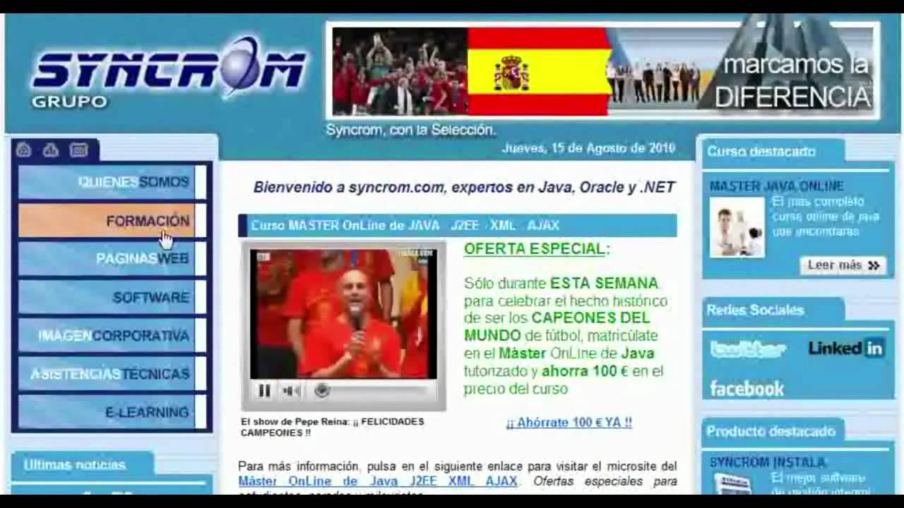 Desarrollo de p ginas web en html video de ejemplos for Paginas web sobre turismo