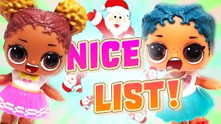 LOL Surprise Dolls Get On Santa's Nice List! Dollface, Diva and MC Swag go on an Adventure!