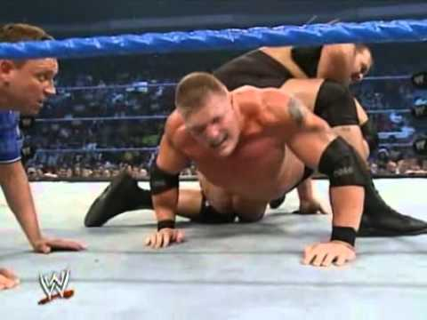 Big Show Vs Brock Lesnar Ring Collapse video
