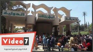 بالفيديو..إقبال كثيف على الحديقة الدولية بمدينة نصر فى شم النسيم