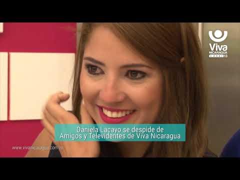 Daniela Lacayo se despide de Amigos y Televidentes de Viva Nicaragua