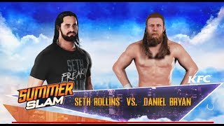 Seth Rollins vs Daniel Bryan- One On One Match- Summerslam 2018- WWE-2K18-Gameplay