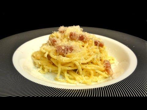 Espaguetis a la carbonara. Recetas de pasta