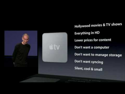 Apple TV 2010- Steve Jobs Shakes Up Media with new On Demand System Keynote 2010: Features & Demo Music Videos