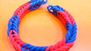 COMO HACER PULSERAS DE GOMAS ELASTICAS.HOW TO MAKE THE RAINBOW LOOM