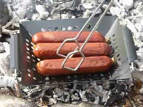 DIY Campfire Grill - YouTube