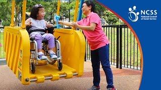 Inclusive Playground - Wheelchair swing