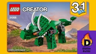 Diotior Builds Lego Creator Mighty Dinosaurs - 31058 pt1 - Triceratops