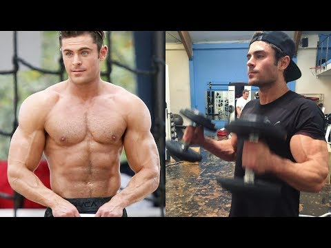 Zac Efron - Posing and Training 2018