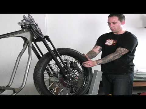 Build A Custom Chopper Part 1 -- Front Axle Wheel Spacing