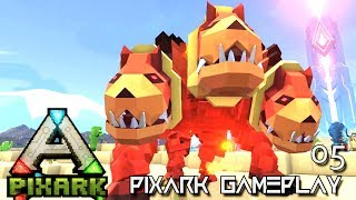 PixARK: NEW DINO CREATURE TAME & DRILL TOOL E05 !!! ( Pix ARK GAMEPLAY EARLY ACCESS )