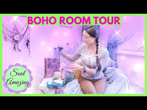 Room Tour 2018 Aesthetic & Bohemian (Small Room Design)