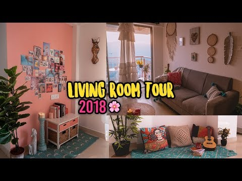 LIVING ROOM TOUR 2018 | Bali Inspired | Bohemian | Larissa Dsa