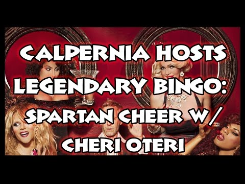 Legendary Bingo for Charity: Calpernia Does A Spartan Cheer...