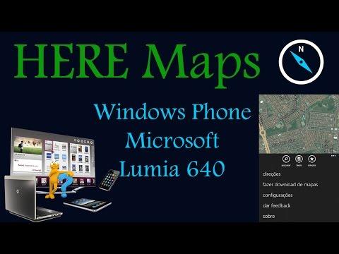 Here Maps e Here Drive - GPS e Navegação no Windows Phone Lumia 640