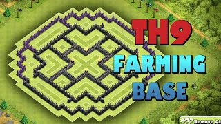 """Fantastic Town Hall 9 Farming Base"" 