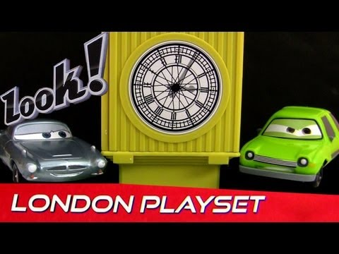 London Launcher Playset from Cars 2 Disney store Pixar with Lights and Sounds by Blucollection