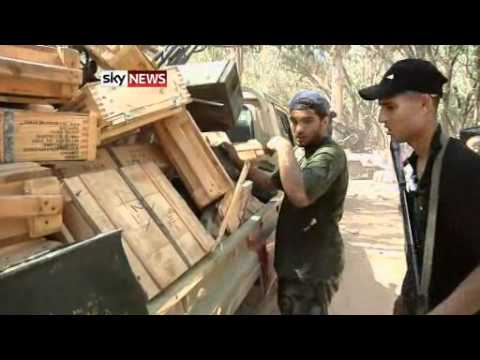 LIBYA: Rebel Fighters Find Tripoli Ammunition Dump 8/26/11