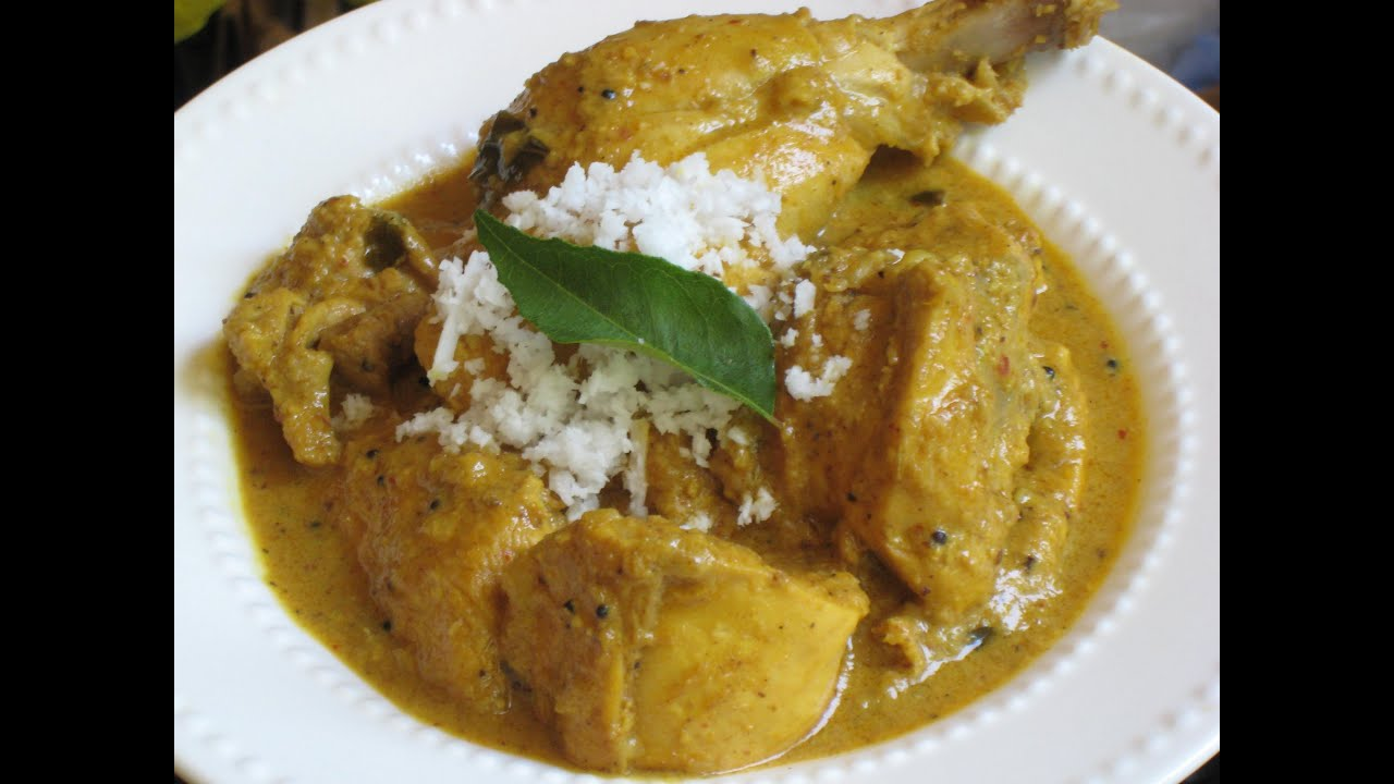 South Indian chicken curry with coconut milk recipe - YouTube