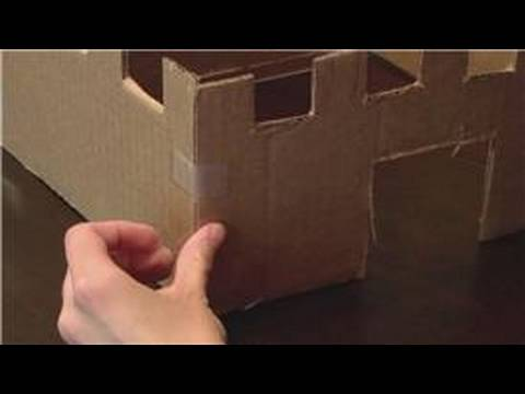 Kids Crafts How To Build A Cardboard Box Castle Youtube
