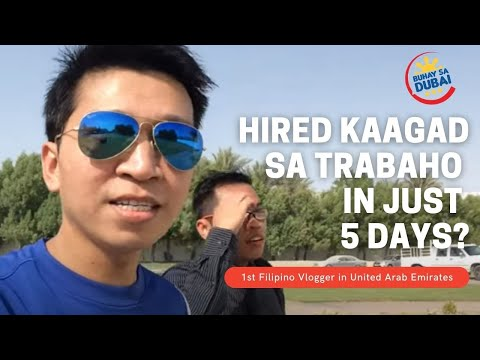 Buhay sa Dubai Daily Vlogs || HIRED KAAGAD IN JUST 5 DAYS