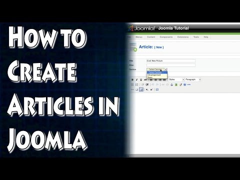 Joomla Tutorial: How To Add Articles