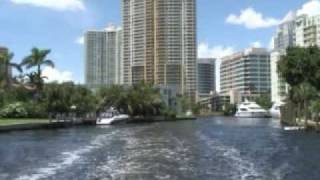 Fort Lauderdale Drive and River Boat Taxi
