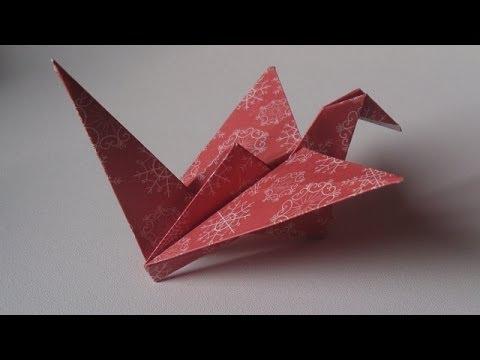 Origami l 39 oiseau qui bat des ailes youtube - Origami youtube facile ...