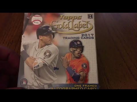 2017 Topps Gold Label Baseball Unboxing: Top Rookies!!