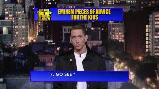 David Letterman Eminem&#8217;s Top Ten Piece&#8217;s of Advice for Kid&#8217;s