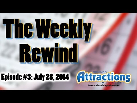 The Weekly Rewind @Attractions for July 28, 2014 - Tower Of Terror, Mascot Games, More