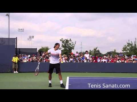 Tenis Sanatı - Roger Federer Tenis Servis Yavaş Çekim (HQ)