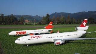 Radio controlled Aircraft McDonnell Douglas MD-11 Swiss und TAM Airline turbine model Hausen Flugtag