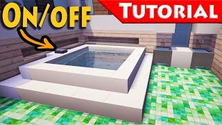 Minecraft: Working Jacuzzi - Bath Tub Tutorial / How to make / Improved / For Modern House /