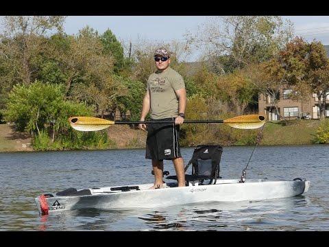 Kayak hobie tandem island rooftop loader loading for Most stable fishing kayak