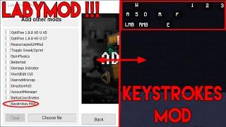 keystrokes mod labymod 3