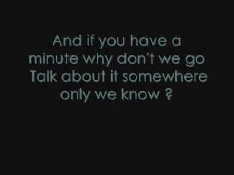 Keane - Somewhere Only We Know (Lyrics)