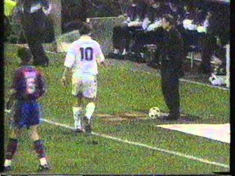 Johan Cruyff & Michael Laudrup fall out (Barca V Real 1995/96)