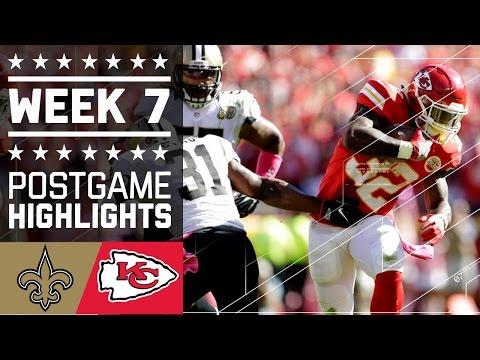 Saints Vs Chiefs Nfl Week 7 Game Highlights