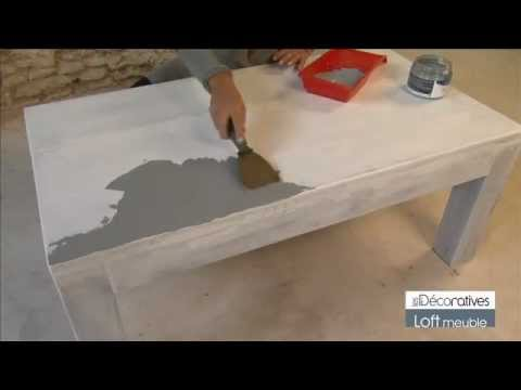 peinture les d coratives loft meuble sur youtube. Black Bedroom Furniture Sets. Home Design Ideas