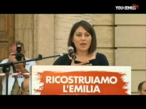 Pier Luigi Bersani alla Festa di Camposanto per il dopo il terremoto