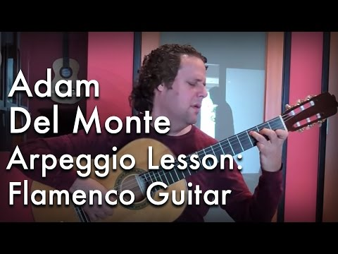 Adam Del Monte - Arpeggio Lesson: Flamenco Guitar at Guitar Salon International
