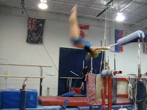 Double Layout Dismount - Bars - Jordan Naleway Video