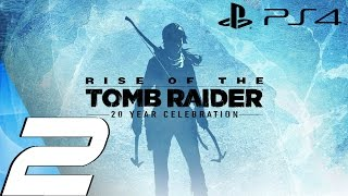 Rise of The Tomb Raider (PS4) - Gameplay Walkthrough Part 2 - Bear Fight & Glacial Cavern